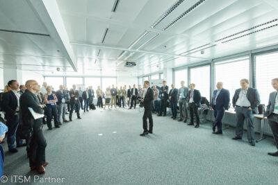 Norbert Neudhart hält einen Workshop bei Service Space 2017