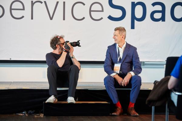 Richard Friedl vor seinem Vortrag über mind4service bei Service Space 2016