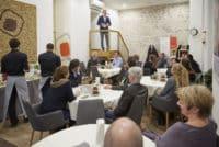 Richard Friedl begrüßt Gäste zum Hafenfest 2017