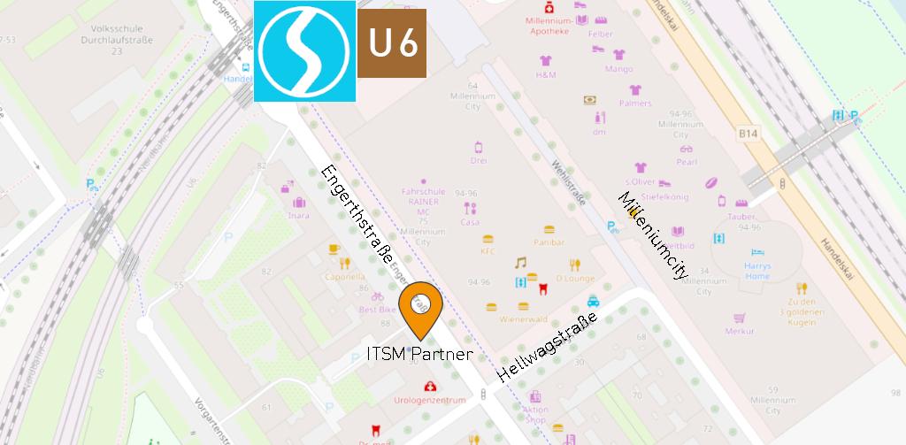 Map zu Adresse ITSM Partner Wien