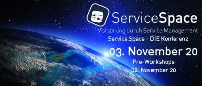 Service Space Konferenz am 3. November 2020 mit Pre-Workshop Tag am 2. November 2020 in Wien