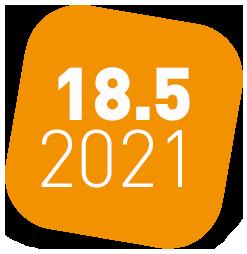 oranges Icon für den virtuellen ITSM Stammtisch von ITSM Partner am 18. Mai 2021