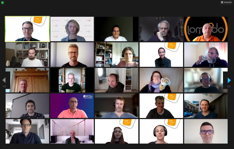 Ein Bild der Teilnehmer des ITSM Stammtisch im Mai 2021.